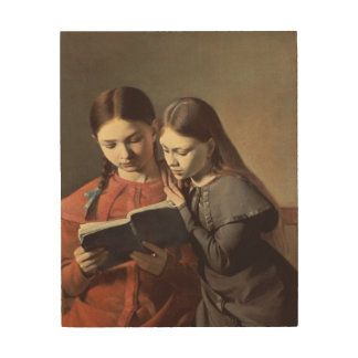 The Artist's Sisters Signe and Henriette Wood Wall Art