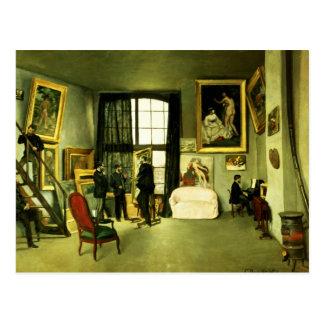 The Artist's Studio, 1870 Postcard