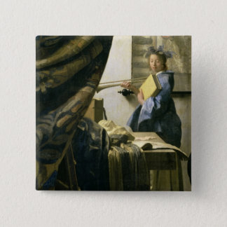 The Artist's Studio, c.1665-6 Pinback Button