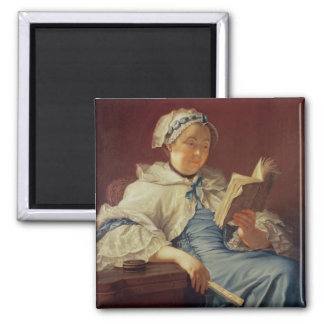 The artist's wife, 1758 (oil on canvas) 2 inch square magnet