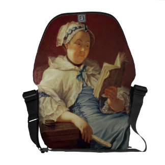 The artist's wife, 1758 (oil on canvas) courier bag