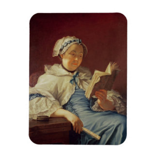 The artist's wife, 1758 (oil on canvas) rectangular photo magnet