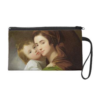 The Artist's Wife, Elizabeth, and their son Raphae Wristlet Purse