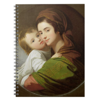 The Artist's Wife, Elizabeth, and their son Raphae Notebook