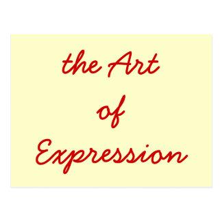 the ArtofExpression Postcard
