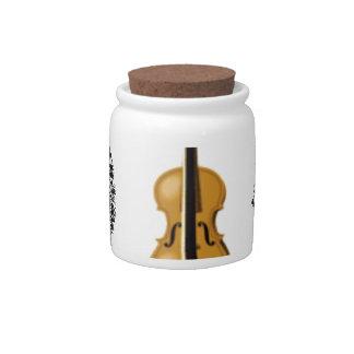 the arts violin candy jar