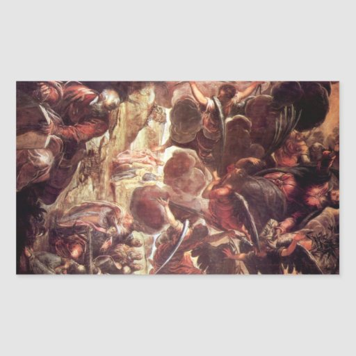The Ascension 2 by Tintoretto Rectangular Sticker