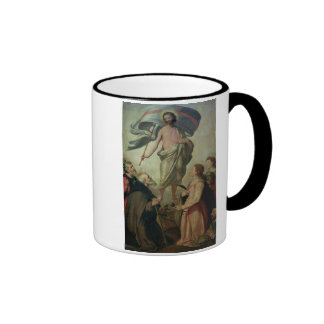 The Ascension of Christ, 1595 (oil on panel) Ringer Coffee Mug