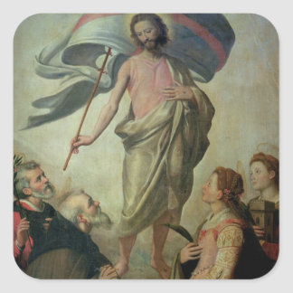 The Ascension of Christ, 1595 (oil on panel) Square Sticker