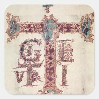 The Ascension of Christ 2 Square Sticker