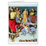 The Ascension of Christ, detail of Christ and musi Cards