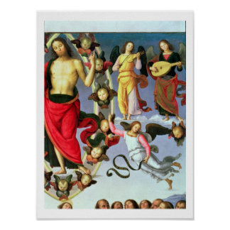 The Ascension of Christ, detail of Christ and musi Posters