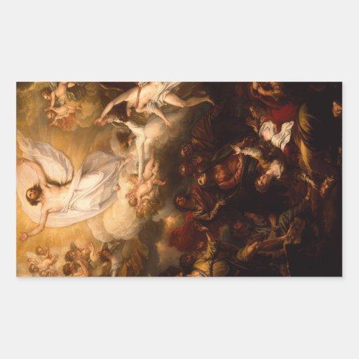 'The Ascension' Rectangular Sticker