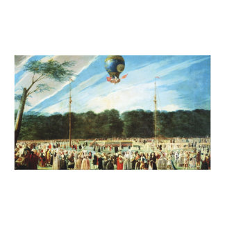 The Ascent of the Montgolfier Balloon at Canvas Print