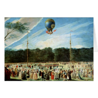 The Ascent of the Montgolfier Balloon at Card