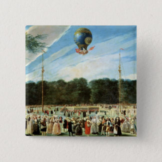 The Ascent of the Montgolfier Balloon at Pinback Button