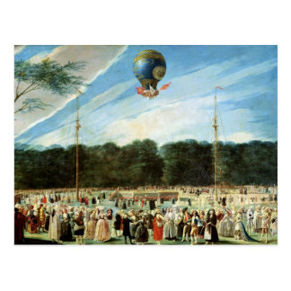 The Ascent of the Montgolfier Balloon at Postcard