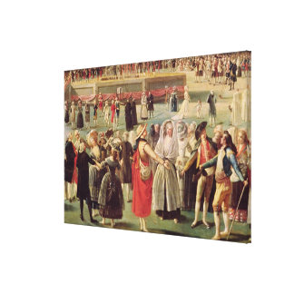 The Ascent of the Montgolfier Balloon Canvas Print