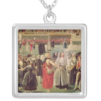 The Ascent of the Montgolfier Balloon Silver Plated Necklace