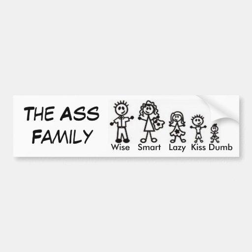 The Ass Family Car Bumper Sticker