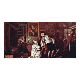 The Assassination Of Count,  By Hogarth William Personalized Photo Card