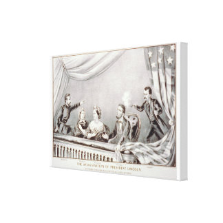 The assassination of President Lincoln Lithograph Canvas Print