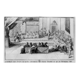 The Assembly of the Blois Estates Poster