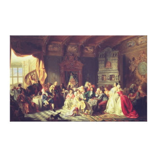 The Assembly under Peter the Great Canvas Print
