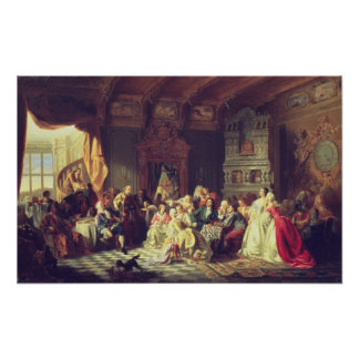 The Assembly under Peter the Great Poster