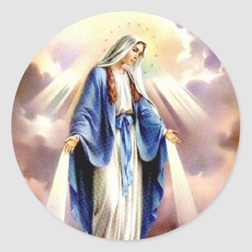 The Assumption of Mary Classic Round Sticker