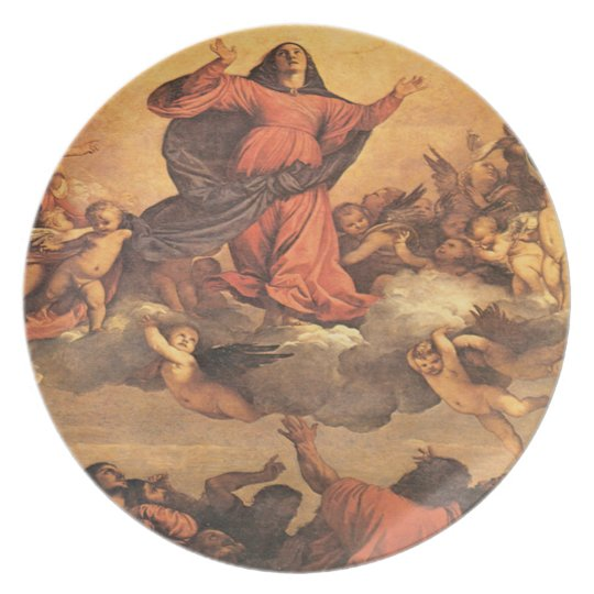 The Assumption of Mary into Heaven Dinner Plate
