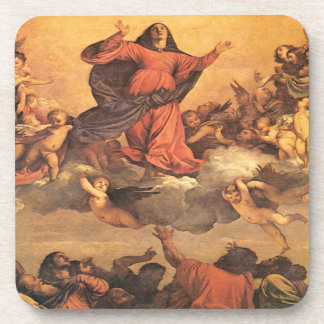 The Assumption of Mary into Heaven Drink Coaster