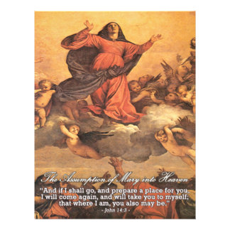 The Assumption of Mary into Heaven Flyer