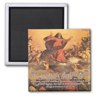 The Assumption of Mary into Heaven II 2 Inch Square Magnet