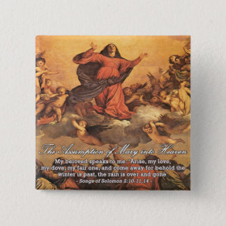 The Assumption of Mary into Heaven II Button