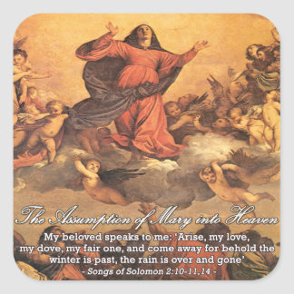 The Assumption of Mary into Heaven II Square Sticker