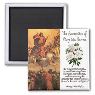 The Assumption of Mary into Heaven III 2 Inch Square Magnet