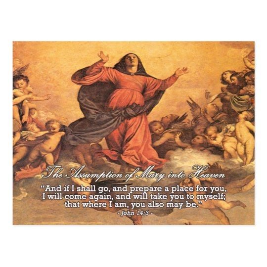 The Assumption of Mary into Heaven Postcard