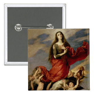 The Assumption of Mary Magdalene, 1636 2 Inch Square Button