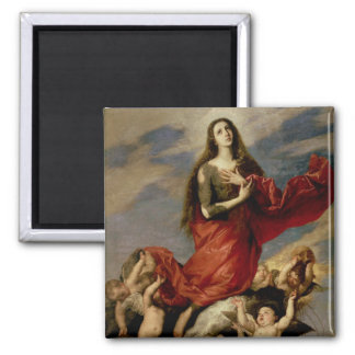 The Assumption of Mary Magdalene, 1636 2 Inch Square Magnet