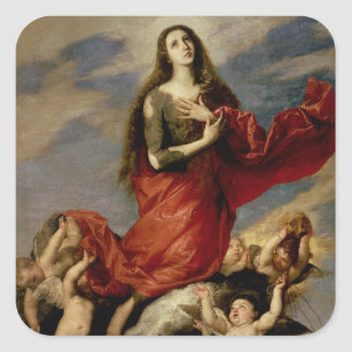 The Assumption of Mary Magdalene, 1636 Square Sticker