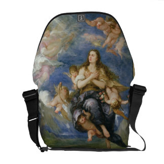 The Assumption of Mary Magdalene (oil on canvas) Courier Bag