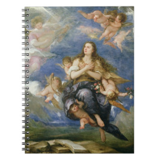 The Assumption of Mary Magdalene (oil on canvas) Spiral Notebook