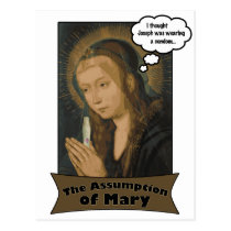 The Assumption of Mary Postcard