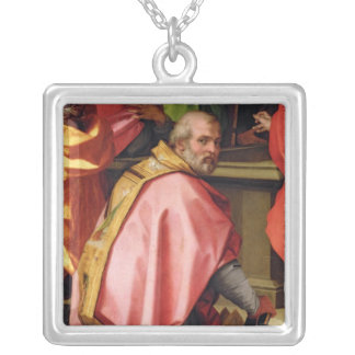 The Assumption of Mary Square Pendant Necklace