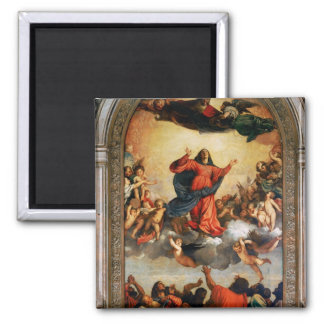 The Assumption of the Virgin, 1516-18 2 Inch Square Magnet