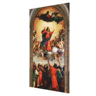 The Assumption of the Virgin, 1516-18 Canvas Print