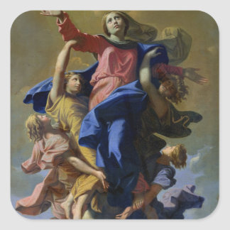 The Assumption of the Virgin, 1649-50 Square Sticker