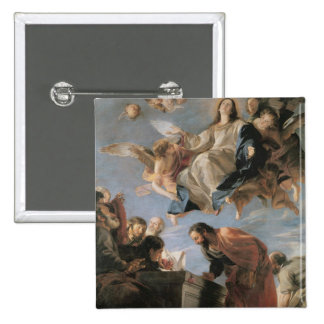 The Assumption of the Virgin, 1673 (oil on canvas) Pinback Button