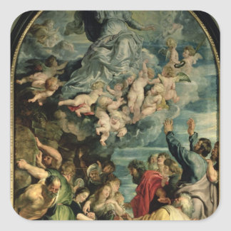 The Assumption of the Virgin Altarpiece, 1611/14 Square Sticker